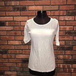 ☁️🍁Ann Taylor 3/4 Sleeve Sheer Pretty Fall Shirt